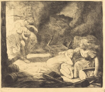 The Fire, 2nd plate (L'incendie)