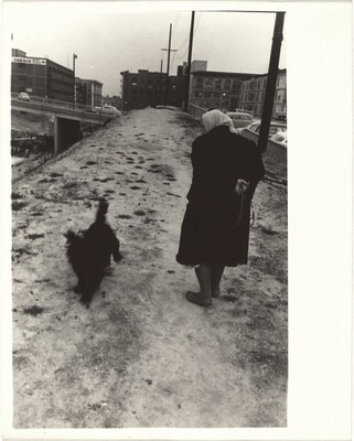 Woman with dog--Los Angeles