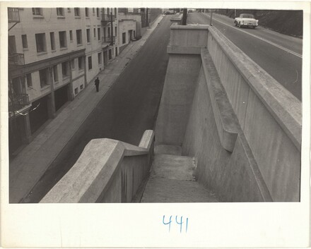 Stairway to street--Los Angeles