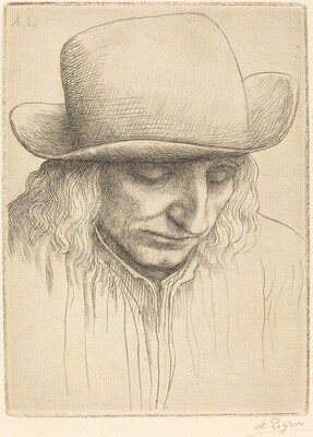Peasant in a Round Hat (Paysan avec chapeau rond)