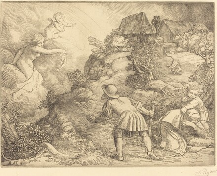 Allegory of the Peasant and Fortune (Le paysan et la fortune: Sujet allegorique)