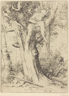 Landscape with a Boy in a Tree (Paysage avec un garcon gimpe sur un arbre dite Le denicher d'oiseaux)