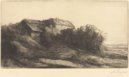 Cottage on a Hillside (Chaumiere sur le coteau)