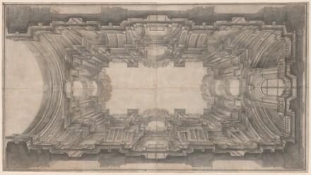 Illusionistic Architecture for the Vault of San Ignazio