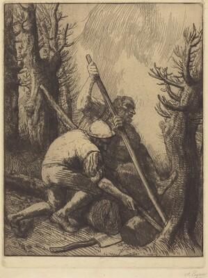 Woodcutters, 3rd plate (Les bucherons)
