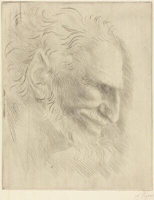 Study for the Head of a Man (Etude de tete d'homme)