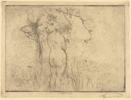 Eve before the Apple Tree (Eve de dos devant le pommier)