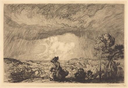 Storm on the Dune, Vendee (L'orage sur la dune, Vendee)