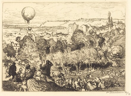 The Falling Balloon, in Pre-Saint-Gervais (Lebaloon qui tombe, au Pre-Saint-Gervais)