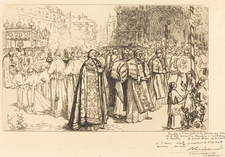 Return of the Procession to Nante Cathedral (Rentree de la Procession a la Cathedral de Nantes)