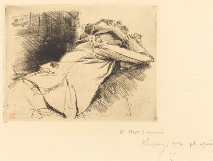 Reclined Woman Sleeping (Femme couchee sommeillant)