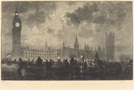 Parliament at 9 o'Clock in the Evening - London (Le parlement a 9 heures du soir - Londres)