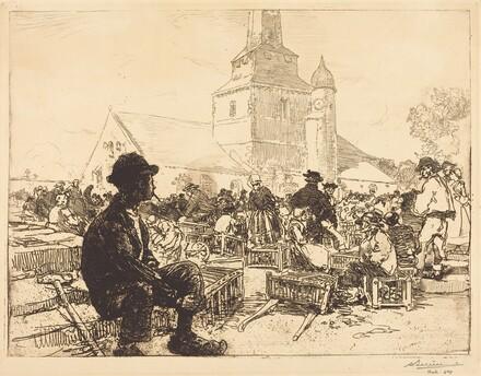 Poultry Market at St.-Jean-de-Mont (Marche a la volaille, a St.-Jean-de-Mont)