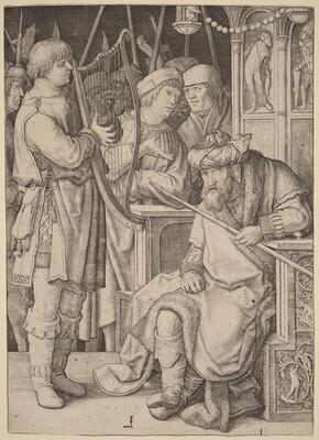 David Playing the Harp before Saul