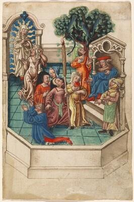 The Calumny of Apelles [fol. 6 recto]