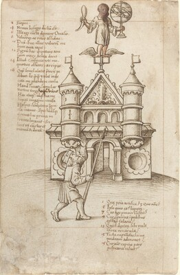 The Statue of Opportunity and the Passer-by [fol. 8 recto]