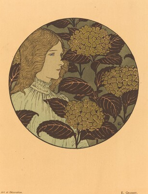Roundel Portrait of a Girl