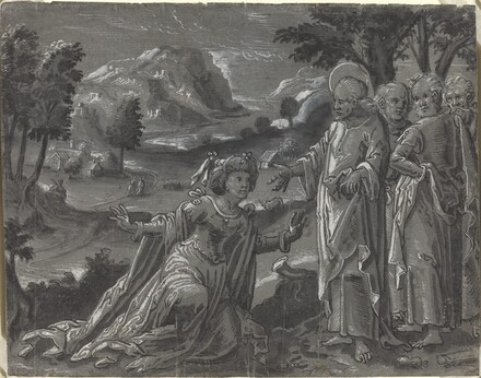 Christ and the Adulteress [recto]