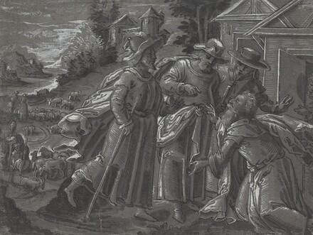 Abraham Entertaining the Angels [verso]