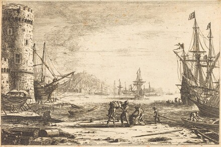 Harbor with a Large Tower (Le Port de mer à la grosse tour)