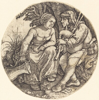 Bagpipe Player with His Lover