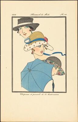 Chapeaux et parasols de la haute-saison
