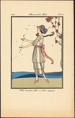 Robe de jeune fille, en linon imprimé