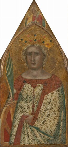 Saint Catherine of Alexandria, with an Angel [right panel]