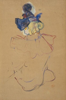 Seated Woman from Behind - Study for Au Moulin Rouge