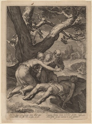 Adam and Eve Lamenting over the Corpse of Abel