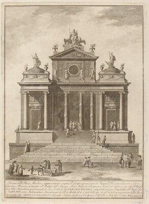 A Temple Dedicated to Jupiter, Juno, and Minerva, for the Chinea Festival