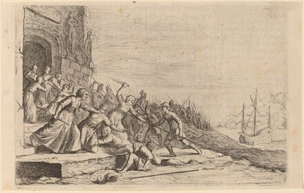 The Followers of Solon Defending the Temple of Venus