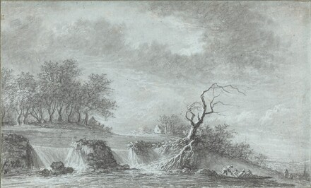Riverscape with a Waterfall