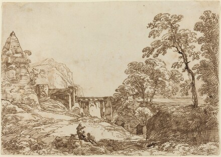 Landscape with a Pyramid and Classical Ruins