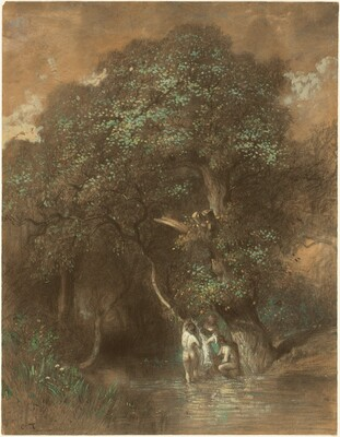 Bathers by a Giant Oak