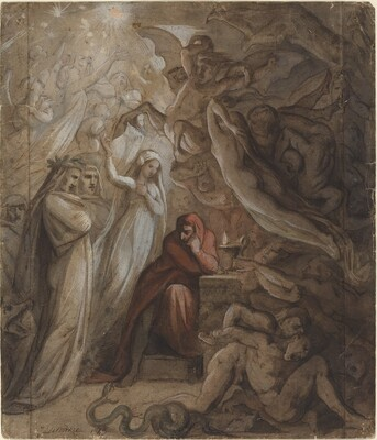 Dante Meditating on the Divine Comedy