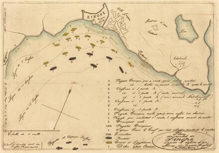 Plan du Combat de Sinope (Plan of the Battle of Sinope)