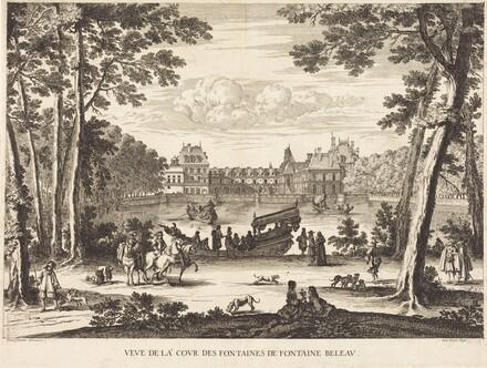 Veue de la cour des Fontaines de Fontaine Beleau