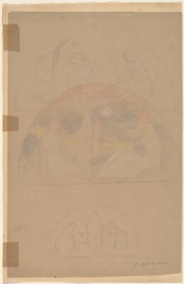 Studies for a Lunette [recto]
