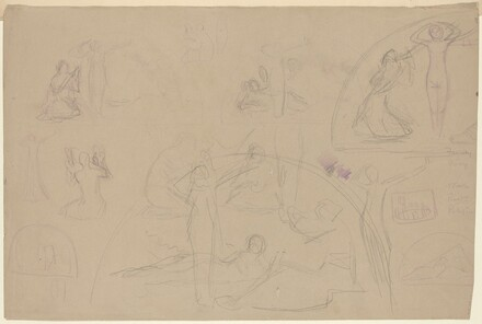 Studies for a Lunette [verso]
