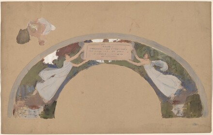 Study of Two Female Figures in Arched Border