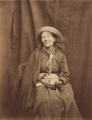 Woman Holding a Dead Bird, Surrey County Asylum
