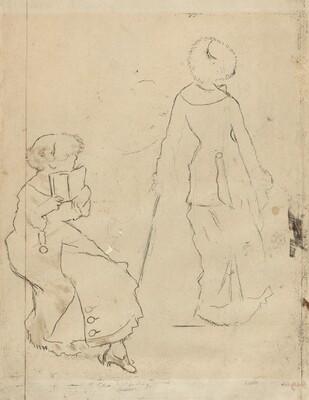 Study for Mary Cassatt at the Louvre [verso]