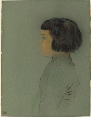 Young Woman in Profile
