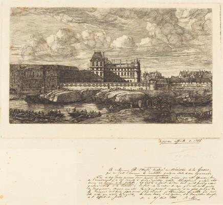 L'ancien Louvre d'après une peinture de Zeeman, 1651 (The Old Louvre, from a Painting by Zeeman, 1651)