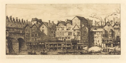 Partie de la Cité vers la fin du XVIIe siècle (View of the City of Paris Towards the Close of the XVIIth Century)