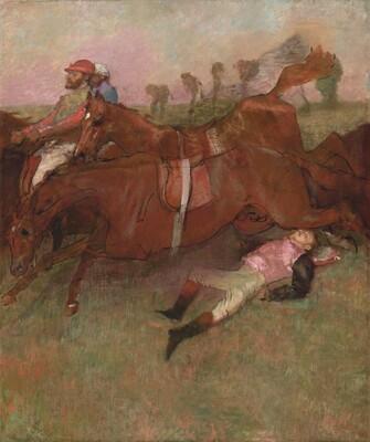 Scene from the Steeplechase: The Fallen Jockey