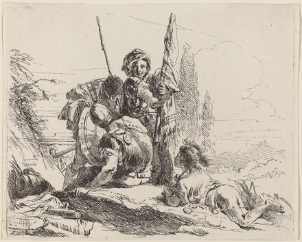 Three Soldiers and a Youth