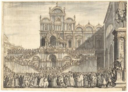 Campo San Zanipolo Decorated for the Visit of Pius VI