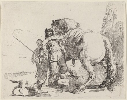 Soldier with Horse and Attendant